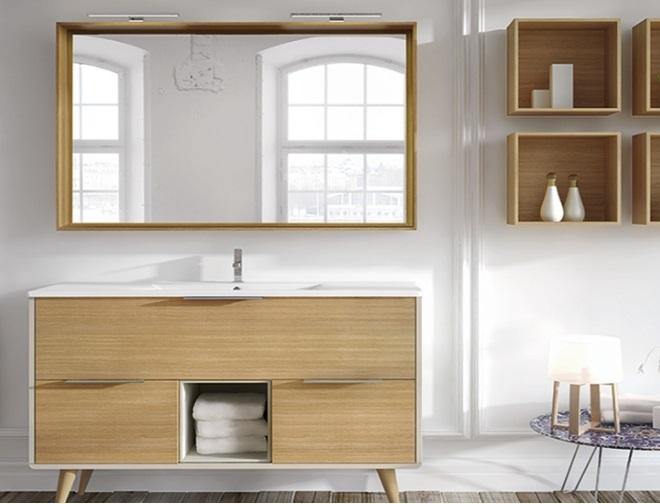Baño moderno en madera