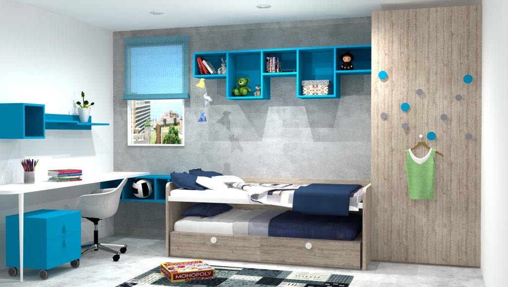 Dormitorios juveniles azules