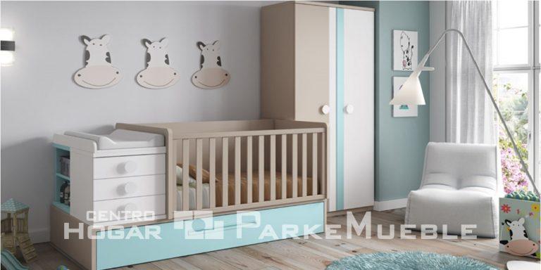 Habitación de bebé. Cuna convertible