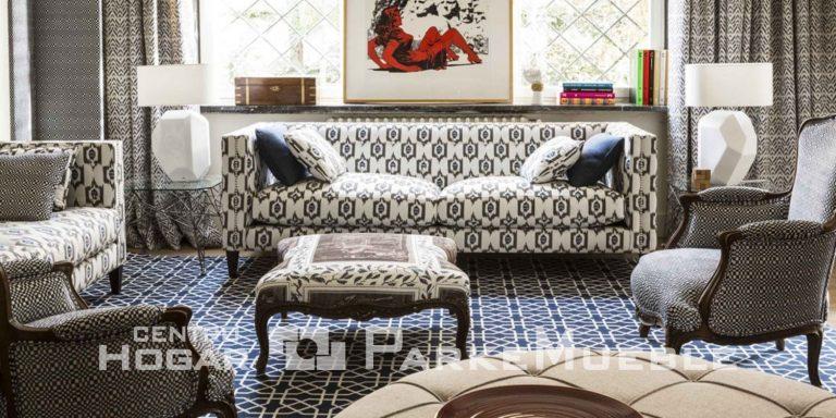 Salón con tapicería