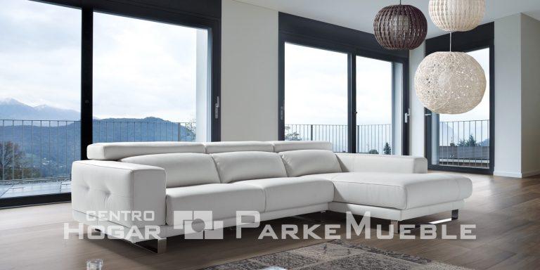 Sofá tapizado blanco