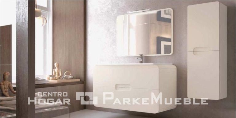 Baño moderno colores claros y madera