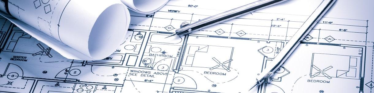 Plano edificio y compás